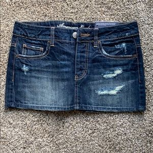 American Eagle Distressed Denim Skirt - 2 - NWT